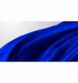 blue silk fabric 3d vector image
