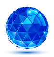 Bright plastic radiance 3d eps10 spherical object vector image vector image