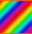 bright seamless rainbow puzzle vector image