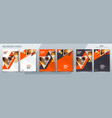 brochure template layout design with triangles vector image vector image