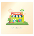 building an online store vector image vector image