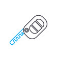car key thin line stroke icon car key vector image vector image