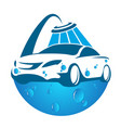 car washing symbol vector image vector image