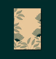 card with elegant floral decoration vector image vector image
