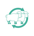 cloning sheep sign laboratory research icon vector image
