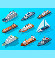 collection isometric modern ships passengers vector image vector image