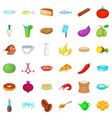 cooking icons set cartoon style vector image vector image