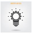 Creative light bulb concept background vector image vector image