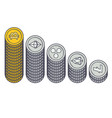 cryptocurrencies coin capitalization vector image vector image