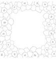 daffodil - narcissus flower outline border vector image vector image