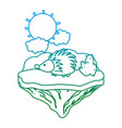degraded line nice porcupine animal in the float vector image vector image