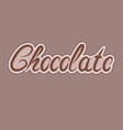 Delicious chocolate letters can be used for your vector image