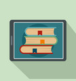 electronic book icon flat style vector image vector image