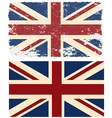 Flag of the UK in retro style vector image