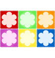 Floral quilt vector image