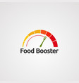 food booster with speedometer concept logo icon vector image vector image