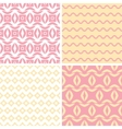 Four tribal pink and yellow abstract geometric vector image vector image