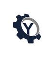 gear logo letter y vector image vector image