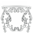 Glamorous Fabulous Baroque Rococo Console Table vector image vector image