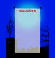 halloween copy space poster on blue background vector image vector image