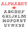 Hand Drawn Alphabets Handwriting striped Fonts vector image