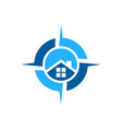house home residence compass logo icon concept vector image vector image