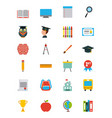 icons set graduate vector image vector image