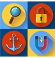 Internet marketing icons set Flat design style vector image vector image