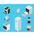 isometric home appliances set household vector image vector image