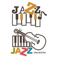 jazz music isolated icons piano and violin vector image vector image