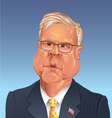 Jeb Bush 2016 Replican Presidential candiate vector image vector image