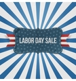 Labor Day Sale national Badge vector image vector image
