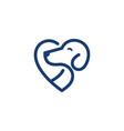line art dog logo design template vector image
