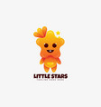 logo little star gradient colorful vector image