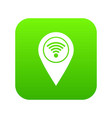 map pin pointer with wi fi symbol icon digital vector image vector image