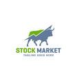 modern stock market logo vector image vector image