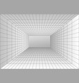 perspective grid room wireframe abstract cube vector image vector image