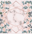 pink marble and geometric background with vector image vector image