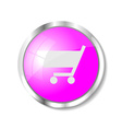 Pink web button vector image vector image
