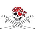 Pirate symbol Jolly Roger vector image