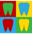 Pop art tooth icons vector image vector image