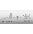 Popular New York City Architecture vector image
