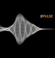 pulsation signal vector image vector image