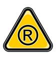registered trademark sign triangular sticker vector image vector image