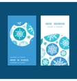 round snowflakes Christmas snowflake silhouette vector image vector image
