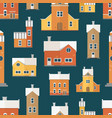 seamless pattern with antique city buildings vector image vector image