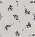 seamless pattern with hand drawn stylized rosemary vector image vector image