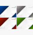set abstract template blue gray red and green vector image vector image
