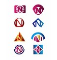 Set of letter N logo Branding Identity Corporate vector image vector image