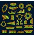 Set of music equalizer digital design vector image vector image